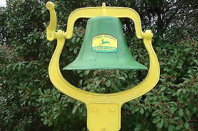 Large Cast Iron Farm /Dinner Bell Gift For JOHN DEER TRACTOR Fan / Collector