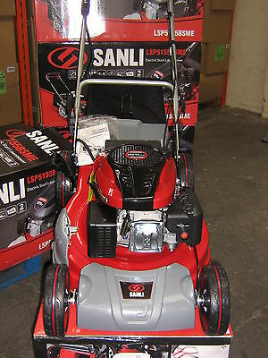 "NEW SANLI 20"" Electric Key Start 4in1 Mulching Petrol Rotary Lawnmower 159cc ohv"
