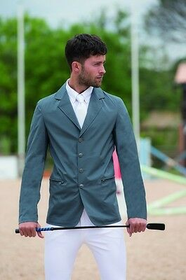 Horseware Mens Lightweight Woven Stretch COMPETITION SHOW JACKET Grey/Black S-XL