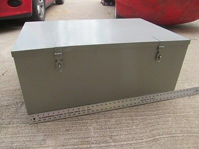 INDUSTRIAL STORAGE BOX Collapsible  metal tool steel crate bin  chest trunk