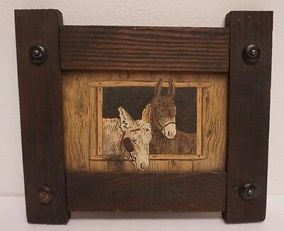 """Small Vintage Arts & Crafts Mission Oak Picture Frame fits 3.5"""" x 5.5"""""""
