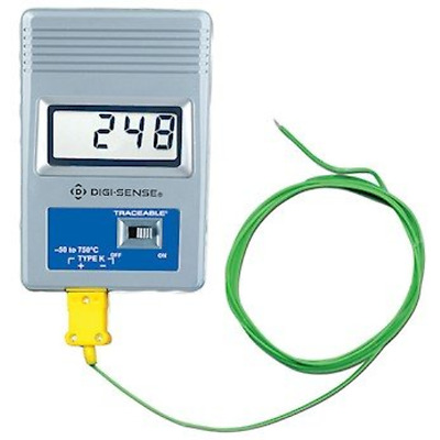 Digi-Sense Calibrated Remote-Monitoring Thermocouple Thermometer, Fahrenheit