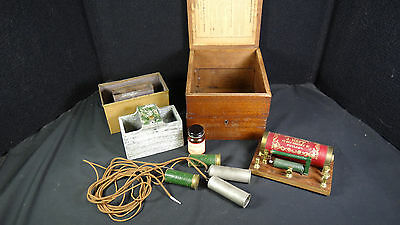 1865 Electro Therapy SHOCK MACHINE Quack J. Neff Phila Electro Magnetic