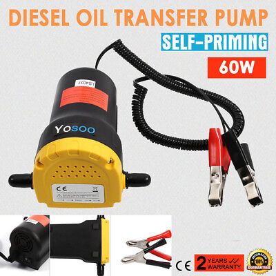 Hot 12V Mini Transfer Pump Extractor Oil Fluid Electric 60W Siphon Car Motorbike