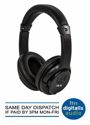 Bluetooth Headphones Akai A58040 Pro Series Black with Wireless Connection NEW