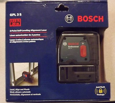 New! Bosch 3- Point Self Leveling Alignment Laser GPL 3 S