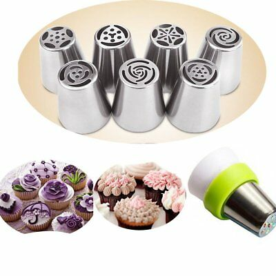 7~15 Big Flower Stainless Icing Piping Nozzle Cake Baking Tool & Coupler