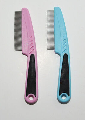 Grooming Comb for Dogs/Cats etc. Blue or Pink