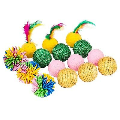 Blueberry Pet Toys For Cat Toy Mix & Match 15-piece Pack- Sisal Balls + Spong...