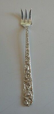 "S. KIRK & SON ""REPOUSSE"" STERLING SILVER COCKTAIL / SEAFOOD FORK, 20 grams"