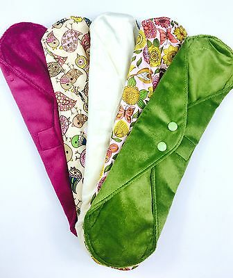 OVERNIGHT Wildlife Collection - 5 Pack Cloth Sanitary Pads (CSP) OVERNIGHT/PO...