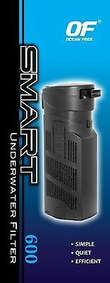 Ocean Free Smart 600 L/h Internal Aquarium Fish Tank Filter Plus Fish Tank Fi...