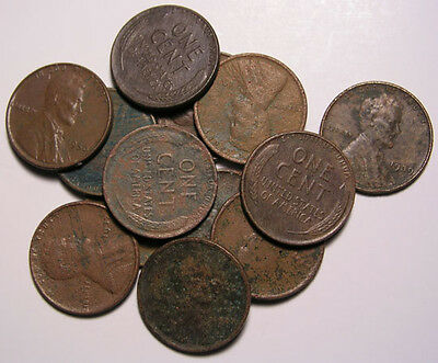 Lincoln Wheat Cent Roll of 50 Wheat Penny's