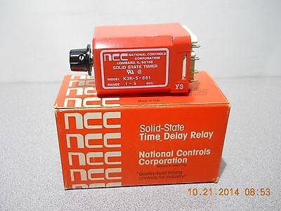NCC  Solid State Time Delay Relay  1 to 5 sec. K3K-5-661 WITH SOCKET BASE