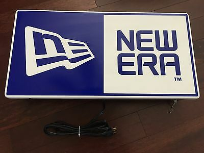 Vintage New Era Fluorescent Retail Advertising Display Sign Fitted Hat 5950 Cap
