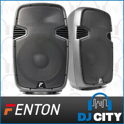 "Fenton PK-QCR1000 15"" Inch Active 1000W Powered Speaker Pair PA DJ Speakers"