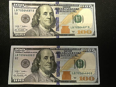 1 X $100 Federal Reserve Note Us Currency Hundred Dollar Bill