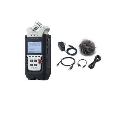 Zoom H4n PRO Portable Field Recorder Handheld Recorder w/ Accessory Pack