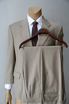 Gianfranco Ruffini Men's Classic Pleated Pants Wool 2 Piece Taupe Suit 42R