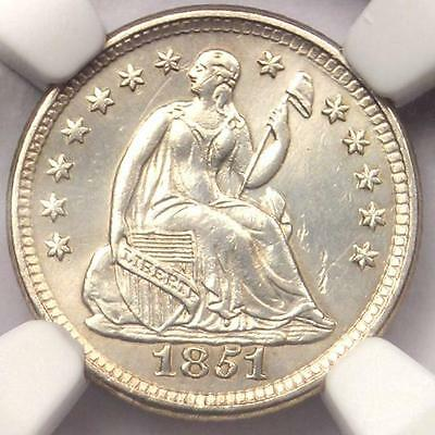 1851-O Seated Liberty Half Dime H10C - Certified NGC AU Detail - Rare Date Coin