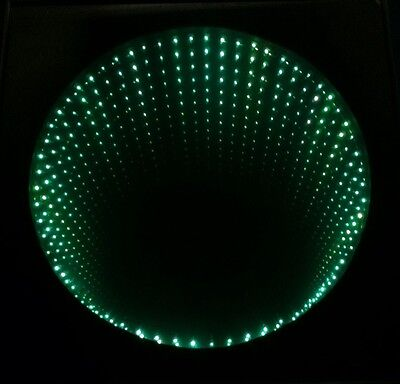 Large Vintage Psychedelic 80's Modern Aluminum Infinity Mirror Disco Light Lamp