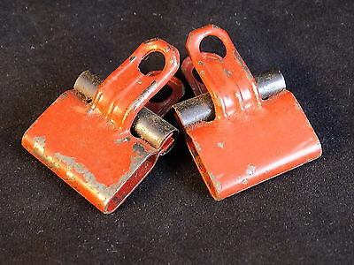Set of 2 Vintage red ESTERBROOK CORD CLIPS heavy duty pinch clamps