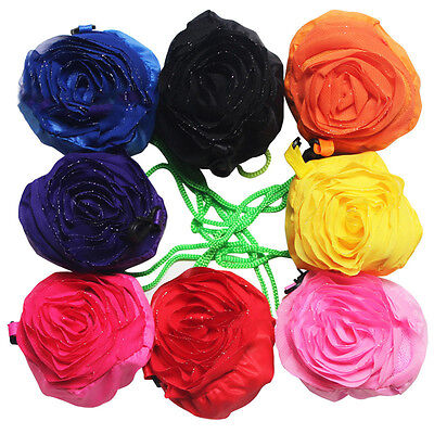 Multi-color Rose Flower Reusable Eco Bags Foldable Shopping Travel Grocery Bag