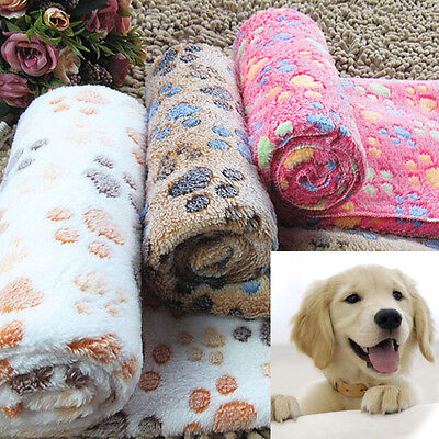 Pet Dog Puppy Cat Warm Mat Soft Fleece Blanket Comfortable Bed Cushion Pad MatAF