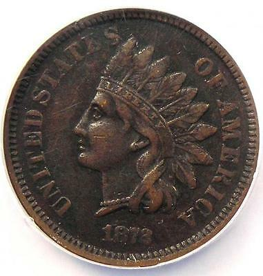 1872 Indian Cent 1C - NGC XF Details - Rare Early Date Certified Penny!