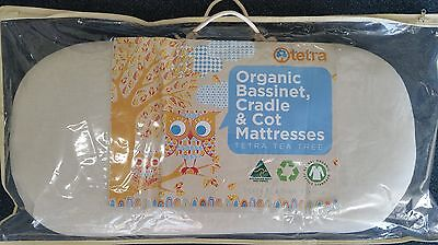 TETRA ORGANIC TEA-TREE BASSINET MATTRESS - 36cm X 74cm - FIRM FILL