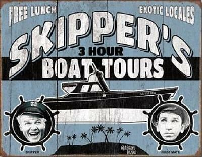 """Gilliagans Island Skippers 3 Hour Boat Tours Metal Tin Sign Poster 16"""" x 13"""""""