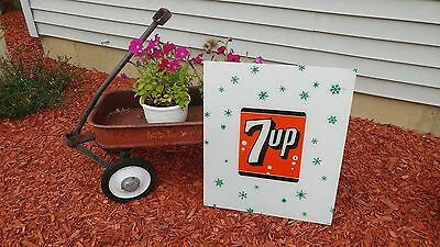 Vintage RARE 7UP Selectivend Vending Machine Advertising Sign Panel - 22.5 x 19