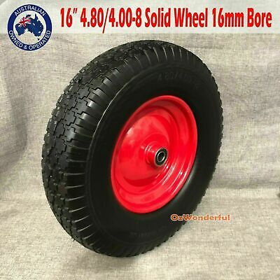 "16"" x 4.5-8 Solid 25.4mm BORE Tyre Wheel Wheelbarrow Wheels Puncture Proof TYRES"