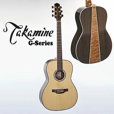 Takamine Gy93Enat G Series New Yorker Acoustic/ Electric Guitar. Quilted Back