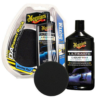 Kit Tampone Meguiars Da Power System Ultimate Waxing Pack Lucidatura Auto Fast !