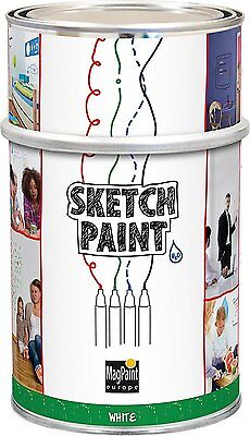 Sketch Paint MAG1004 1 Litre Sketch Whiteboard Paint Gloss White