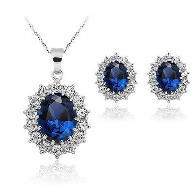 Wedding Crystal Costume Jewelry Sets Snowflake Necklace Earrings Women Fashion