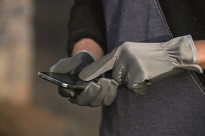 Horseware TOUCH SCREEN Riding Gloves Enables Mobile Phone Use UK 7-12 Black/Grey