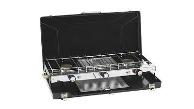 Outwell Appetizer Folding Black Camping Cooker 2 Burner Stove & Grill 650269