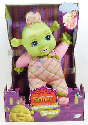 "2007 Shrek The Third Laugh With Me Baby 13"" Laughing Doll New Unused"