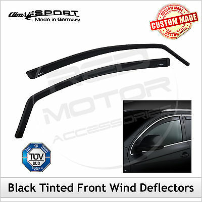 CLIMAIR BLACK TINTED Wind Deflectors FIAT SEICENTO 1998-2007 FRONT