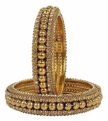 108 Indian Jewelry Bollywood Polki Lovable Beautiful Gold plated Wedding Bangle