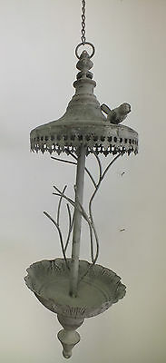 Ornate Metal Hanging Bird Feeder With Roof