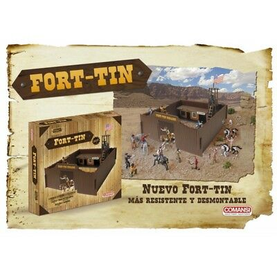 Comansi Fort-Tin Western Spielset Indianer Cowboy Salon NEU NEW Play Set