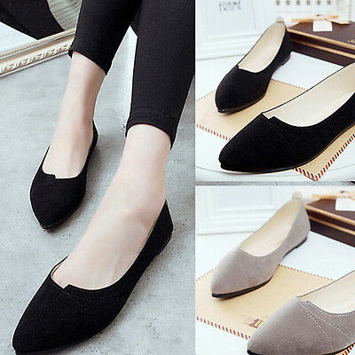Fashion Women Boat Shoes Casual Flat Ballet Slip On Flats Loafers Working Shoes