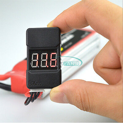 BX100 1-8S Lipo Battery Low Voltage Power Display Tester Buzzer Alarm