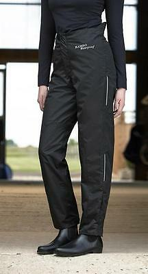 Horseware Unisex WATERPROOF PULLUPS Shiny Yard Over Trousers Navy/Black S-XL
