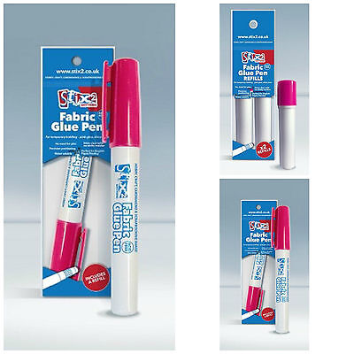 Fabric Glue Pen & Refills - Acid free - Great for sticking fabrics without pins