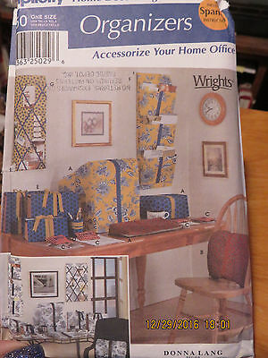 Simplicity Home Organizers  Pattern - Accessorize Your Home Office  - 9750