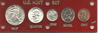 1939 US. Mint/year Set - Gem BU Uncirculated Coins - New Red Capital Holder  14